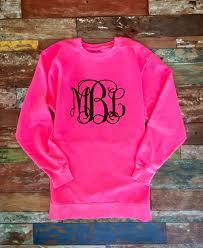 monogrammed sweatshirt glitter monogram sweatshirts monogrammed