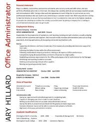 Office Administration Resume Samples by Fantastic Office Skills For Resume 6 Administrator Resume Examples
