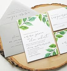 new anna watercolor greenery wedding invitation sample