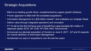 open text corporation otex investor presentation slideshow