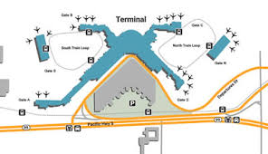seattle airport terminal map seattle sea airport shuttle service