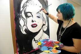 speed artist paints portraits of celeb icons in 180 seconds