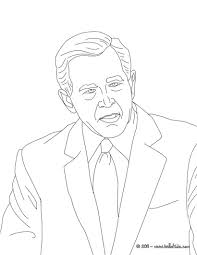 george w bush coloring page eson me