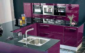 cuisine couleur violet cuisine couleur aubergine élégant cuisine cuisine blanche mur violet