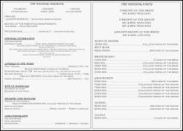 ceremony order for wedding programs ceremony order service uk