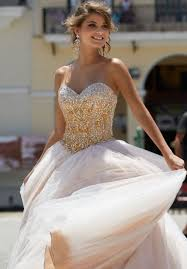 beaded tulle prom dress with sweetheart neckline and corset back
