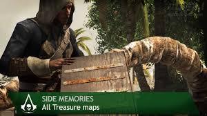 Assassins Creed Black Flag Treasure Maps Assassin U0027s Creed 4 Black Flag Side Memories All Treasure Maps