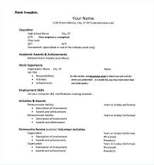 work experience resume template activities resume template academic builder exles for college
