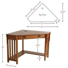 Corner Desk Small Corner Computer Desk Mission Oak Kitchen Dining