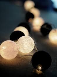 black white cotton string lights 20ct 8 ft