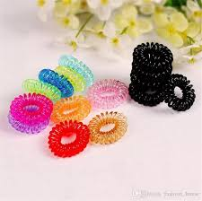 elastic hair ties children candy colored telephone line elastic hair bands hair ties