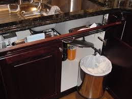 Kitchen Cabinet Trash Can Pull Out Under Sink Trash Can With Lid Under Cabinet Trash Can Pull Out
