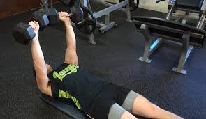 Seated Bench Press Decline Dumbbell Bench Press Chest Exercise Bodybuilding Com Form