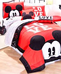 bathroom inspiring mickey minnie mouse pattern bedding set and