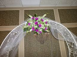 Wedding Arches Decorated With Tulle Awesome Wedding Arches With Tulle And Flowers With Wedding Arch