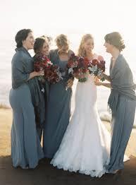 bride with bridesmaids in long dresses estes wedding ideas