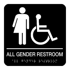 all gender restroom accessibility braille restroom signs seton