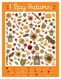 Halloween I Spy Printable Free I Spy Autumn Printable Game Www Teepeegirl Com