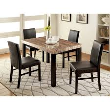 modern glass top dining table furniture of america ellenburg contemporary 5 piece dining table