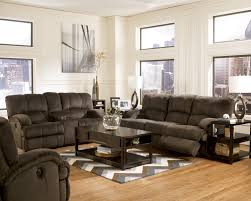 Ashley Furniture Living Room Buy Kiska Chocolate Dbl Rec Loveseat W Console By Ashley From