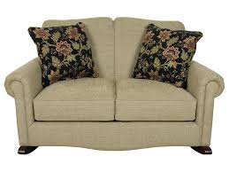 Upholstered Loveseat Chairs England Eliza Traditional Upholstered Rocking Loveseat Darvin