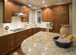 Golden Oak Kitchen Cabinets by Furniture Natural Kitchen With L Shaped Brown Oak Cabinet Also
