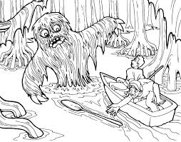 free swamp monster coloring page just for halloween enjoy find