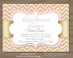 pink and gold baby shower invitations chevron pink and gold chagne 5x7 baby shower invitation