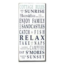 cottage rules painted sign by barn owl primitives barn owl