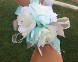 Wrist Corsages For Prom Prom Wrist Corsage Etsy