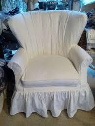 Cottage Style Slipcovers White Linen Loveseat Slipcover By