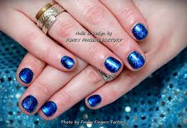 gelish blue and turquoise foils nails funky fingers factory
