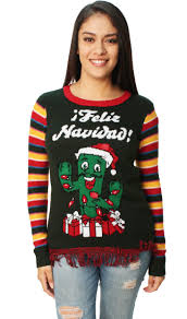 ugly christmas sweater women u0027s feliz navidad cactus led light up