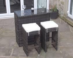 2 seater bar set in brown rattan outdoor garden furniture brand