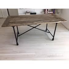 restoration hardware sofa table restoration hardware flat iron dining table chairish