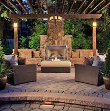Outdoor Backyard Ideas Dreamy Fireplace Patio Design With Pergola 635 Sq Ft Pergolas