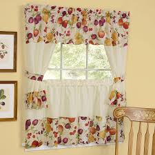 Window Curtains Design Decorating Kitchen Tiers Window Treatments Cafe Style Curtains For