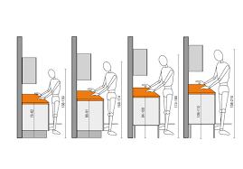 norme hauteur plan de travail cuisine ergonomie dans la cuisine plans valcucine