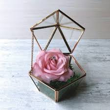 wedding ring holder yourstalkmarket geometric terrarium wedding ring holder