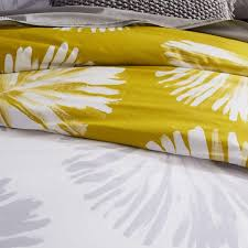 400 thread count organic sateen palm fronds quilt cover