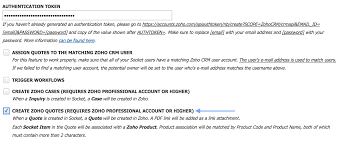 quote blockquote html new integration zoho quotes module socket