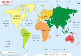 what are the 7 continents from biggest to smallest