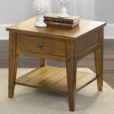 Oak End Table Lake House Transitional Oak End Table Free Shipping Today