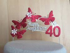 25th anniversary cake topper ebay