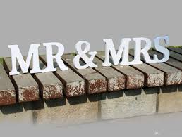 mr and mrs table decoration letters decoration home garden medium size freestanding wooden
