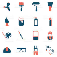 painting icons stock vector art 612502462 istock