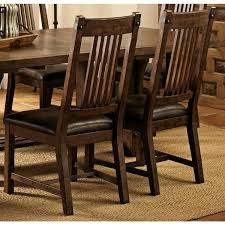 rimon solid wood mission style rustic dining chairs set of 2