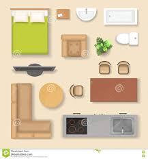 flat vector people at home interior in kitchen living room sofa