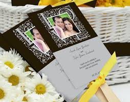 wedding fan favors keep guests cool at hot summer weddings with program fans