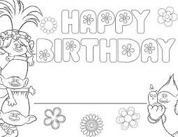 happy birthday paw patrol coloring page free trolls happy birthday coloring page free coloring pages online